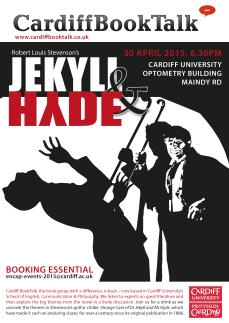 30 Apr 2015: Robert Louis Stevenson, Jekyll and Hyde