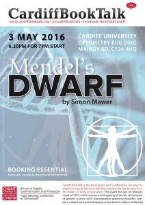 3 May 2016: Simon Mawer, Mendel's Dwarf