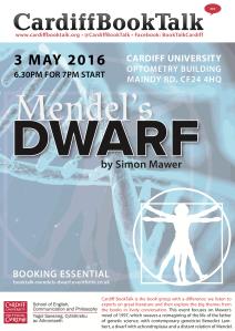 3 May 2016: Simon Mawer, Mendel's Dwarf