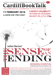 11 Feb 2016: Julian Barnes, The Sense of an Ending