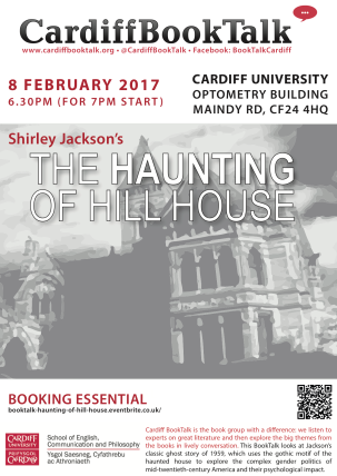 8 Feb 2017: Shirley Jackson, The Haunting of Hill House